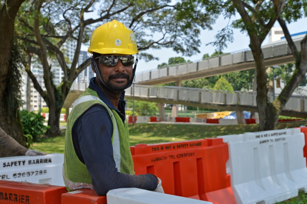 Kumar a driver and long term worker in Singapore was happy to chat